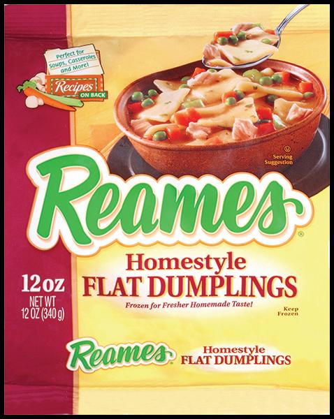 00041308000477 CF  EPS 5 - Reames® Homestyle Flat Dumplings 12 oz.