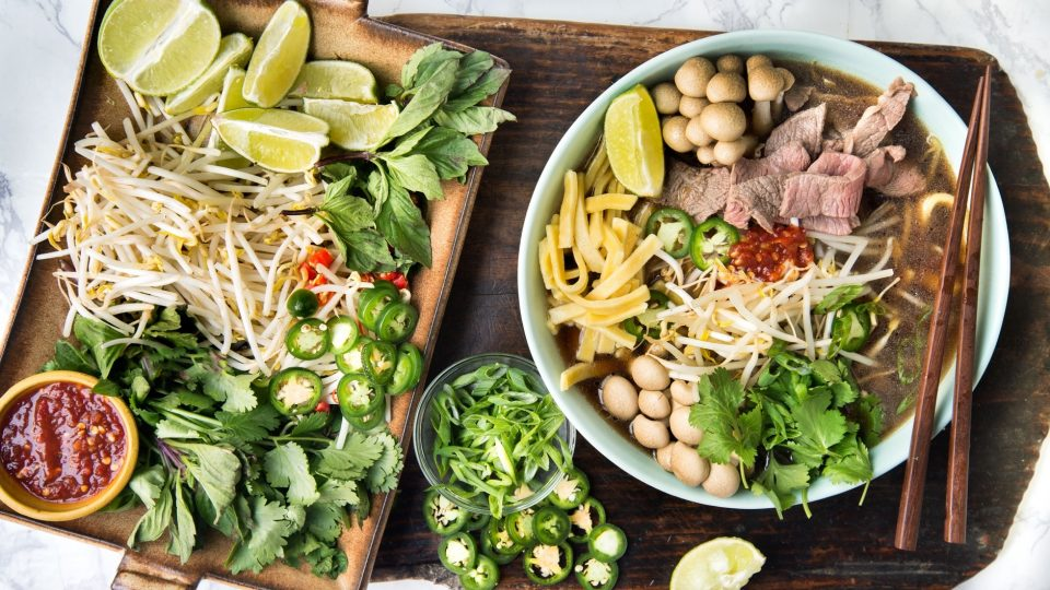 main quick vietnamese pho 960x540 - Quick Vietnamese Beef and Mushroom Pho